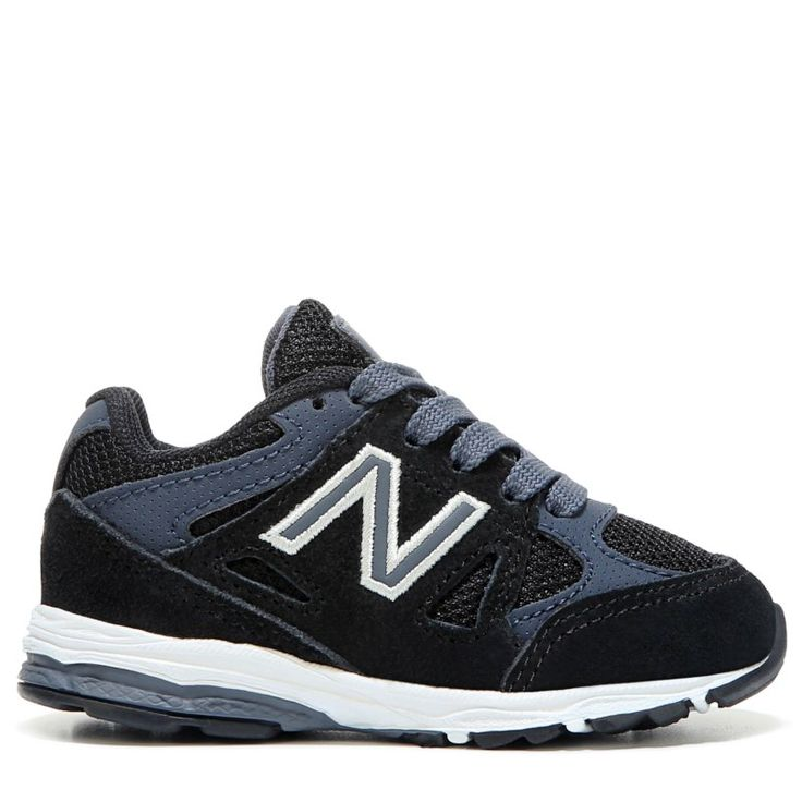 New Balance Kids' KJ888 Medium/Wide/X-Wide Running Shoe Baby/Toddler Shoes (Blue/Black Leather) - 10.0 M