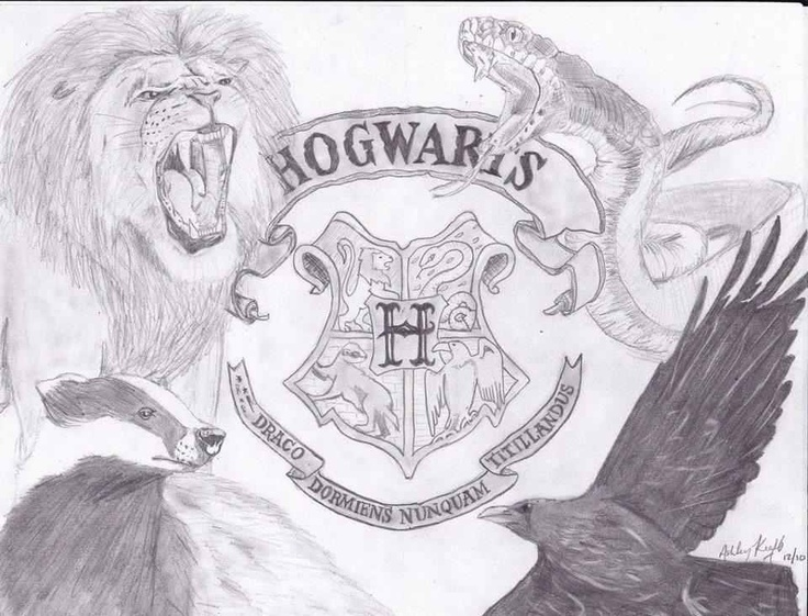 Drawing Harry potter gryffindor logo, Harry potter