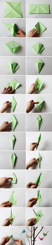 je faisais ça au collège  Origami bird