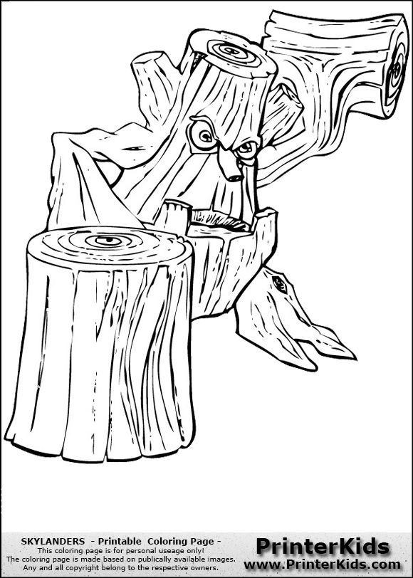 coloring page    stump smash