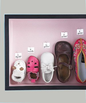 Note to self ~ save baby shoes!  This is like the bronze shoes of my dad's, except cuter.