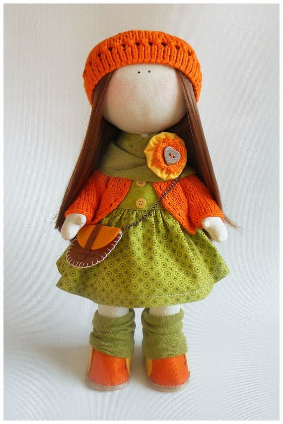 Fabric doll in removable clothes cloth doll kids by JuliettaDoll