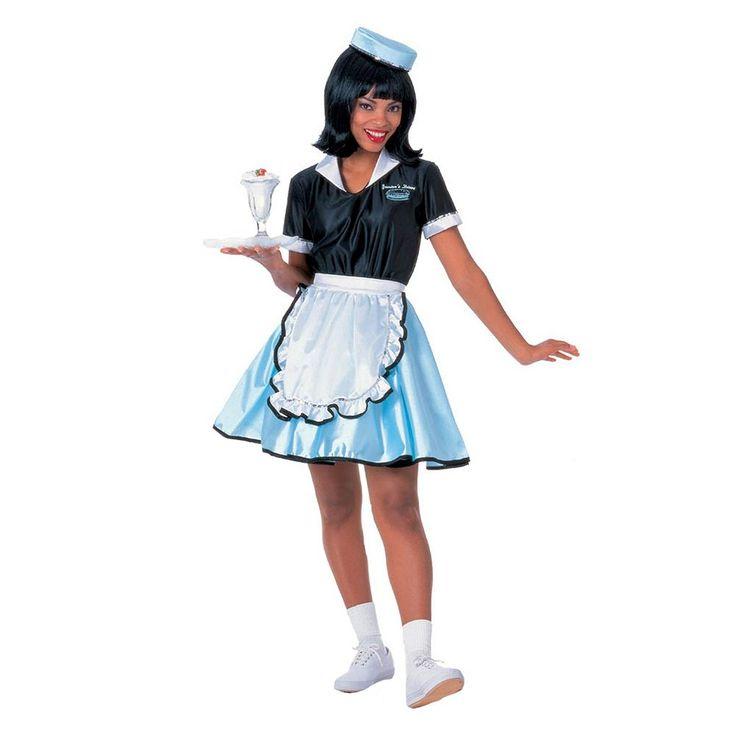 Car Hop Girl Costume - Adult, Black
