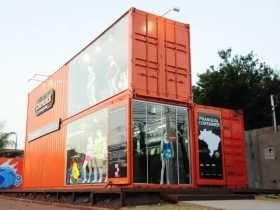 Em Campo Grande, uma loja foi construída com a estrutura de cargas,