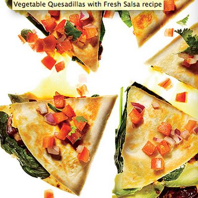 Vegetable Quesadillas with Fresh Salsa @keyingredient #cheese #cheddar ...