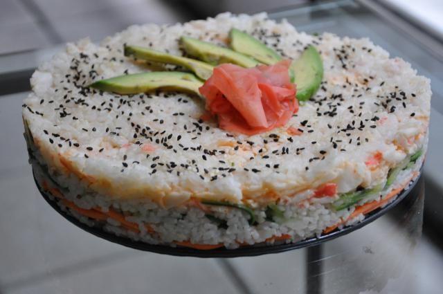 sushi cake, japon, gâteau, tendance