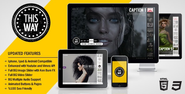 This Way Full Video/Image Background with Audio - ThemeForest Item for Sale