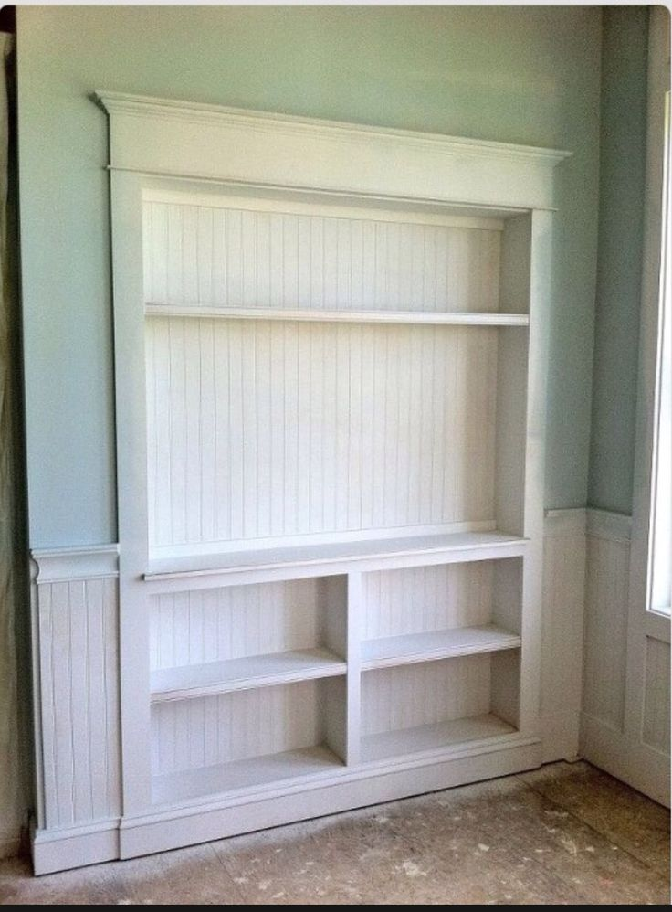 how to build shelves on exposed studs