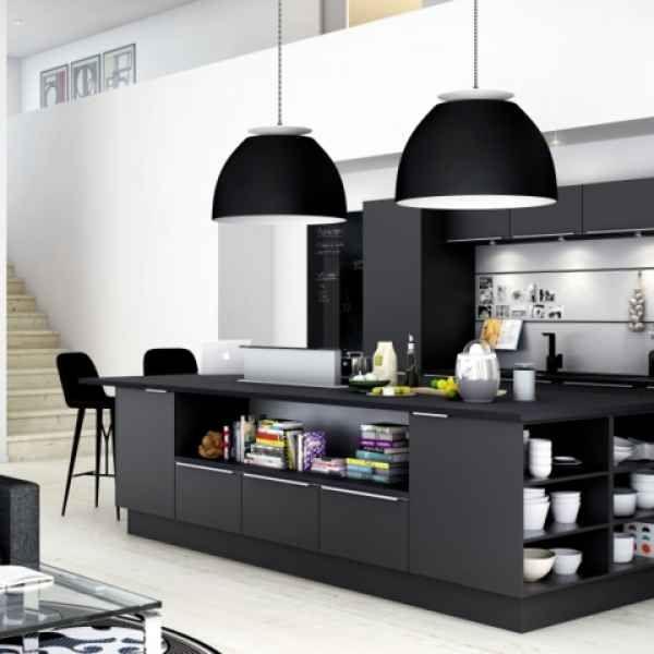 Eine schwarze Küche wählen – Tipps und 48 Interieur Ideen