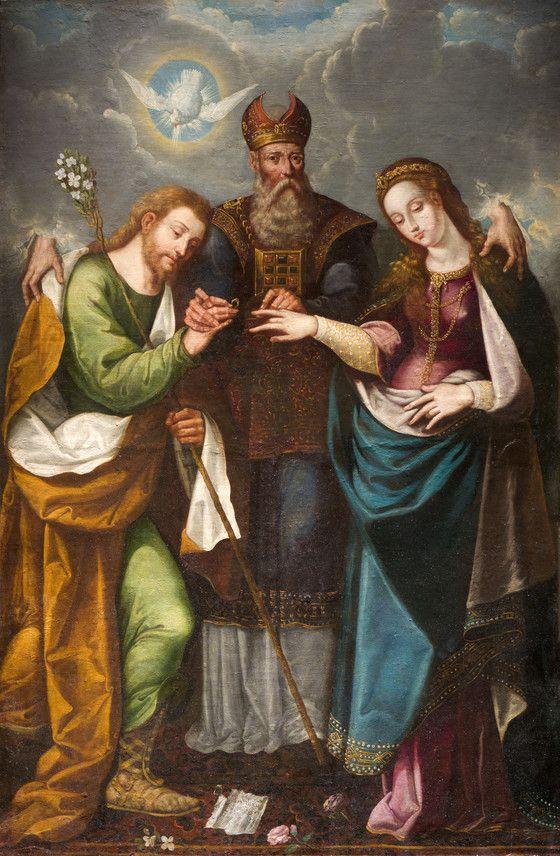 The Marriage of the Virgin (Desposorios del la Virgen)   LACMA Collections