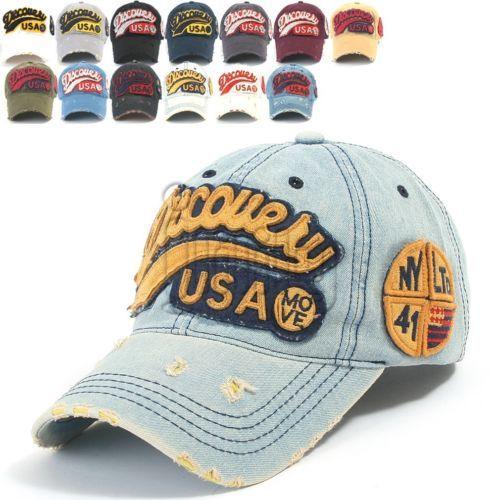 Ililily Discovery Logo Distressed Vintage Baseball Cap Snapback Trucker Hat 604 | eBay