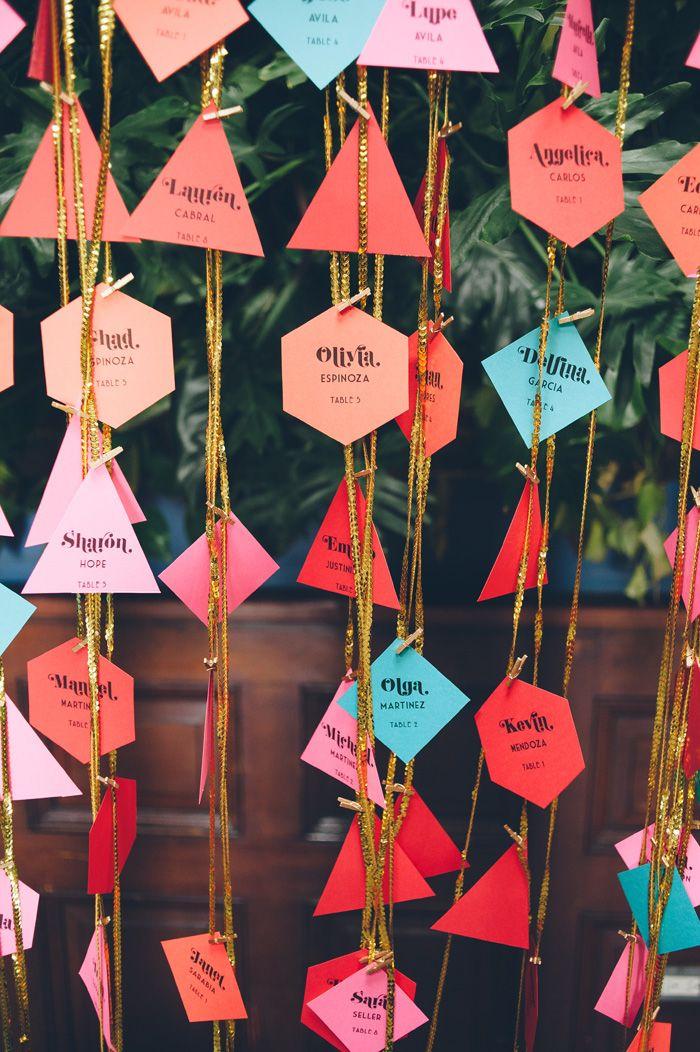 DIY Girlande gemischte Formen und Farben. Toll! | DIY Girlande | Girlande selber machen Idee | DIY Idee | Girlande basteln |
