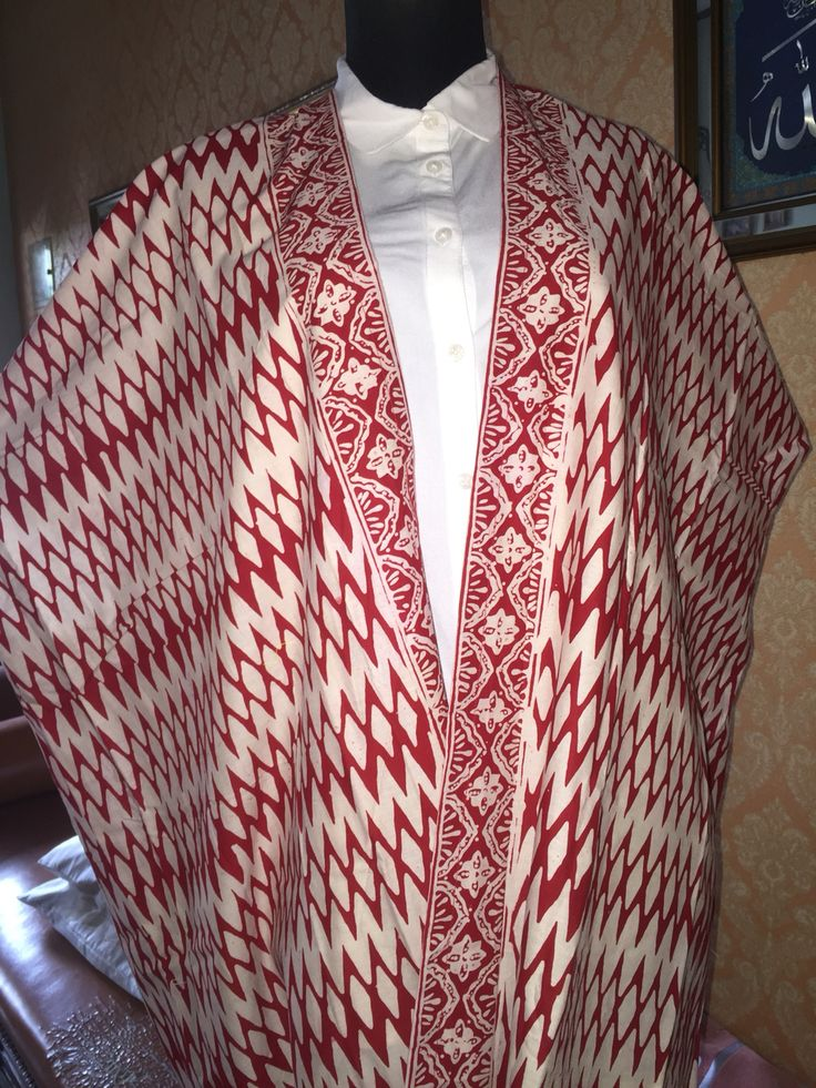 red zigzag batik outer