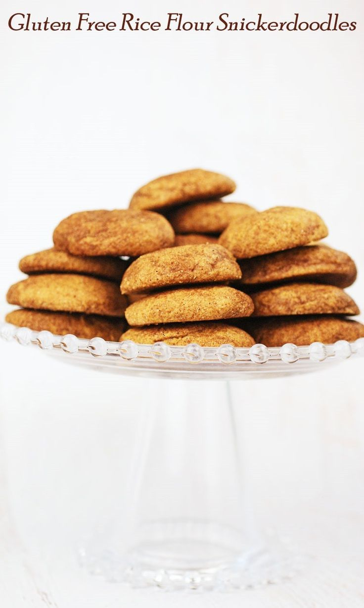 Easy to make Gluten Free Rice Flour Snickerdoodles at This Mama Cooks! On a Diet - thismamacooks.com