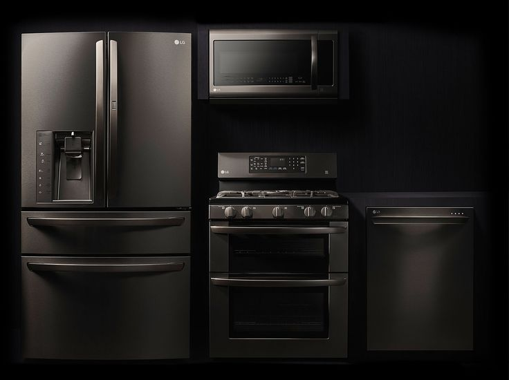 nice How To Clean Black Kitchen Appliances #5: Easy to clean. Would be amazingly perfect in a woodsy yet crisp and clean  kitchen. Discover the LG Black Stainless Steel Series. Featuring a black  stainless ...