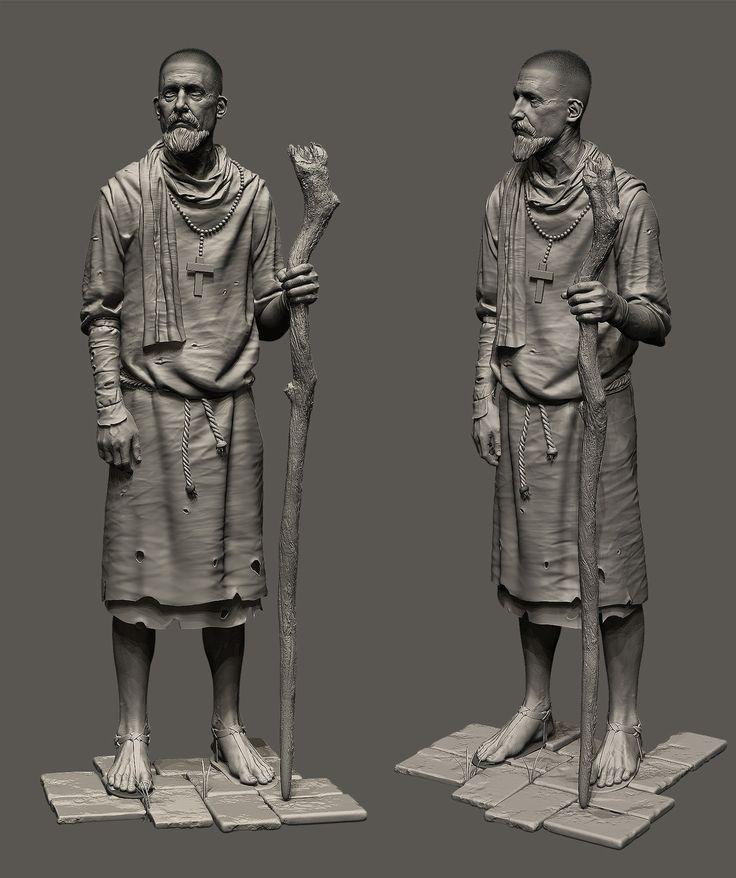 Monk, Arash Beshkooh on ArtStation at https://www.artstation.com/artwork/monk-6cfae493-a908-4942-b2ed-130c85a9ee07