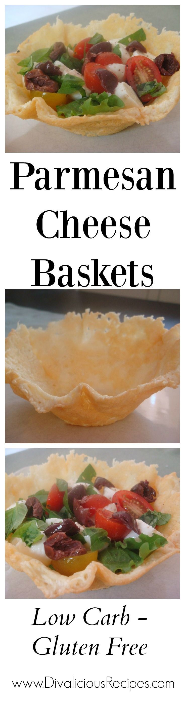 Parmesan cheese baskets are so simple to make.  It's basically a bowl made out of cheese!  Fill with a salad or even a chilli.  Eat the contents, then eat the bowl!