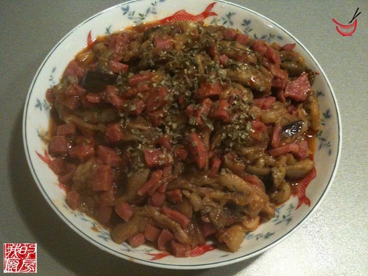 Aubergines à la sauce piquante, recette chinoise, recette aubergines, cuisine chinoise