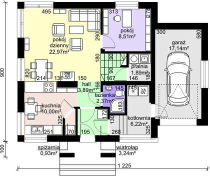 Projekt domu Dom przy Cyprysowej 30 - DOM EB3-52 - gotowy projekt domu