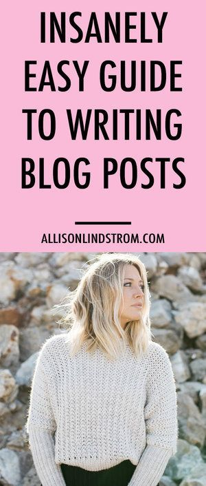 Starting a blog and want to know how to write the perfect blog post? I've got an insanely easy guide for writing content that rocks!