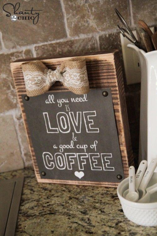DIY Rustic Frame With Free Coffee Printable! @Shanti Paul Paul Paul Paul Leeuwen Yell-2-Chic.com