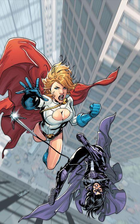 Power Girl and Huntress ( Wayne)