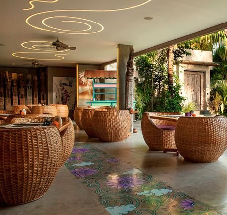 Luxury awaits here at the beach hotels in Bali. You will enjoy a colorful presentation of carefully crafted dishes by our Chef whom you can watch in the open display kitchen. Eat, drink and enjoy your vacation to the fullest.