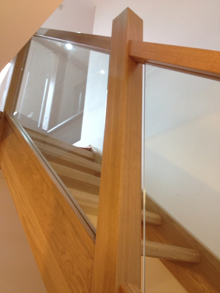 Best Glass Stairs Glass Balustrade Oak Staircase Interior 640 x 480