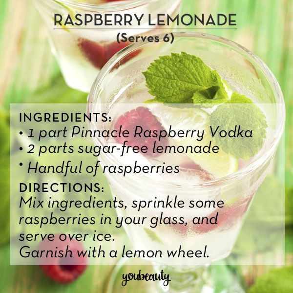 """Spiked lemonade is my cocktail kryptonite: if it's on the menu, there's a 100% chance I'm going to order it. It's the type of summery treat I never think to make at home – but that's where DIY recipes come in. If you like your lemonade straight-up, try these recipes from the experts at Pinnacle Vodka for a cocktail featuring the lowest-calorie liquor (and our personal favorite.)"""