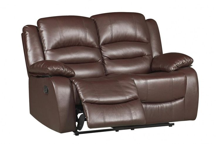 #Venice 2 Seater #Reclining #Sofa in Brown Bonded Leather