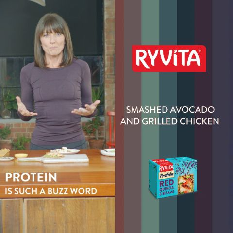 Have you tried NEW Ryvita Protein? Davina McCall's chicken & avocado recipe is quick, easy and delicious!
