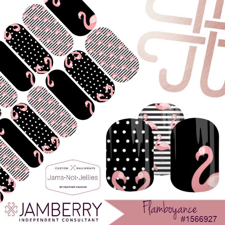Flamboyance Jamberry Custom NAS Design EASY Flamingo Nail Art  Kate Spade inspired style Nail Art
