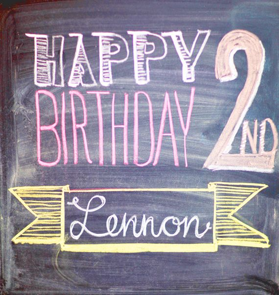 Birthday Chalkboard | Simply Bloom Photography | 100 Layer Cakelet