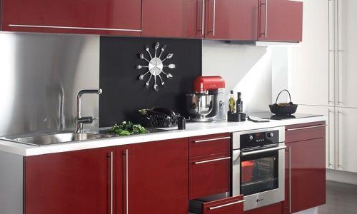 Cuisine Noir Rouge Gris Deco Cuisine Rouge Et Grise