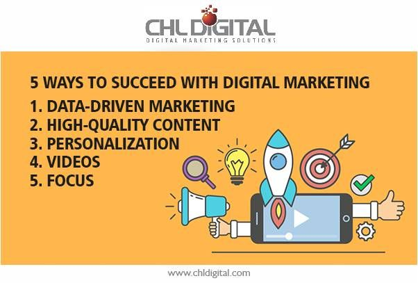 5 Ways to Succeed With #DigitalMarketing Know more at www.chldigital.com  #Tips