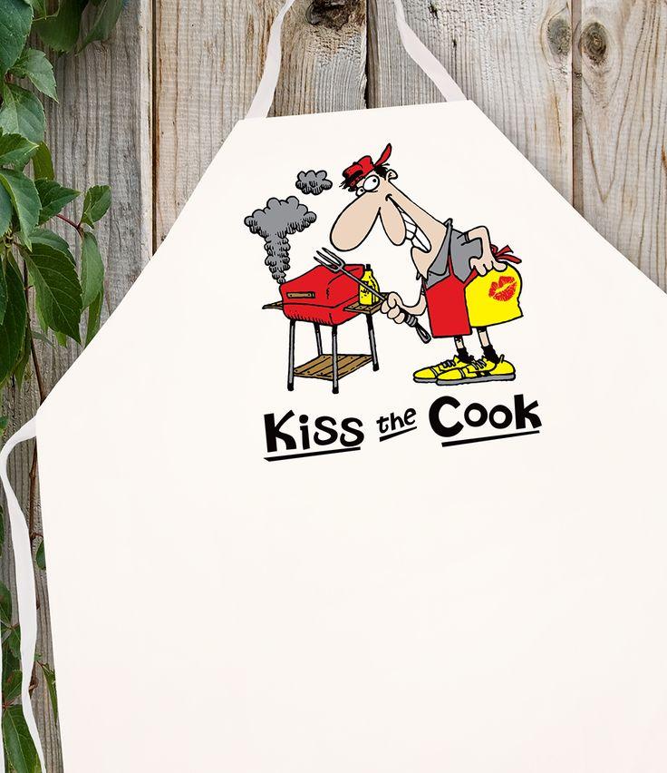 Attitude Apron Kiss the Cook Cartoon