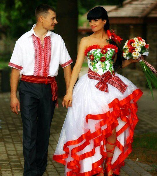 Embroidered wedding dress!