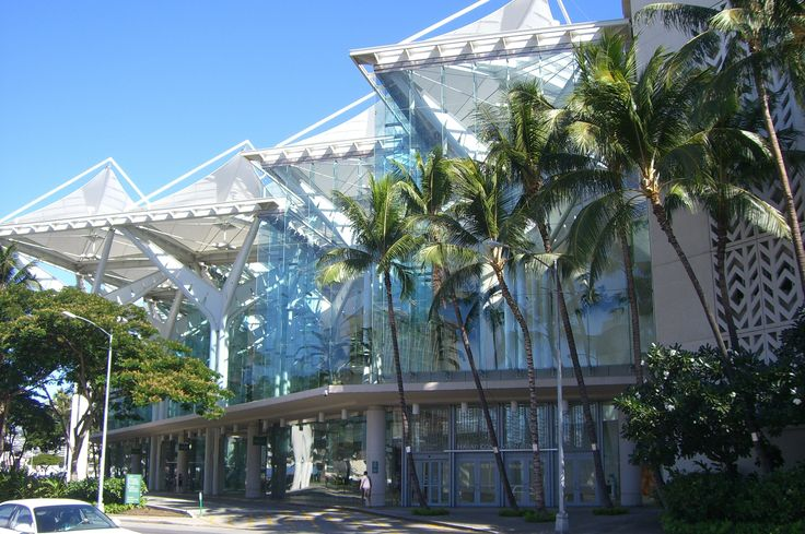 Hawaii Convention Center- The Hawai'i Convention Center is a premier convention and exhibition center in Hawaii, located in Honolulu on the island of Oahu. It is the largest exhibition center of its type in the state.