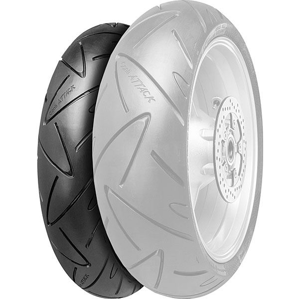 Continental Conti Road Attack-Sport Mileage Radial Front Tire. Available Sizes: 110/70ZR17 120/60ZR17 120/70ZR17 110/80ZR18 120/70ZR18