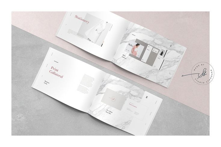 Phoebe Design Guidelines by Studio Standard on @creativemarket - studio brochure