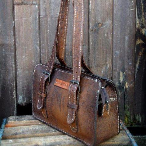 Classic Bowler Zambezi Buff Spice Bovine | 100% handmade, hand stitched, hand cut and hand assembled. GoodiesHub.com