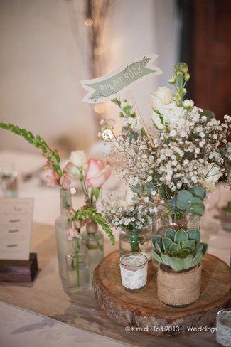 Rustic Wedding Decor Inspiration ♥ Protea and Rustic Fynbos Inspired Wedding at Langverwagt | Confetti Daydreams ♥  ♥  ♥ LIKE US ON FB: www.facebook.com/confettidaydreams  ♥  ♥  ♥ #Wedding #RealBride #RusticWedding