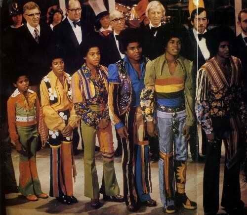 Michael Jackson and his brothers