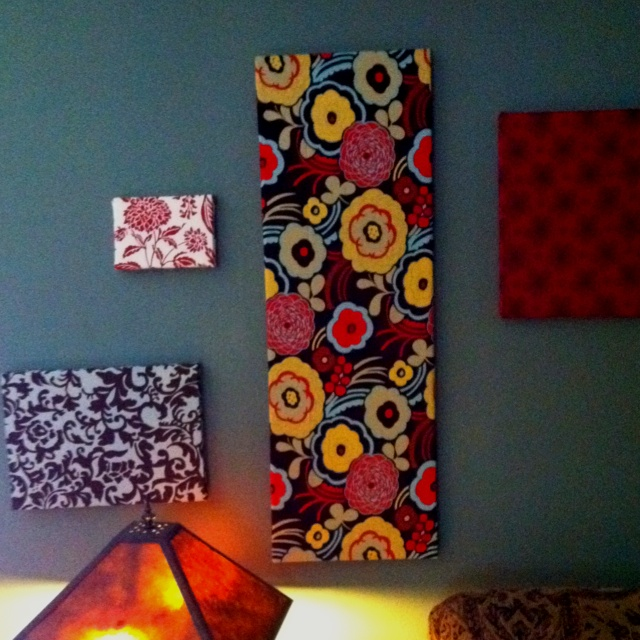 Fabric Covered Wall Art : Best fabric covered canvas ideas on pinterest