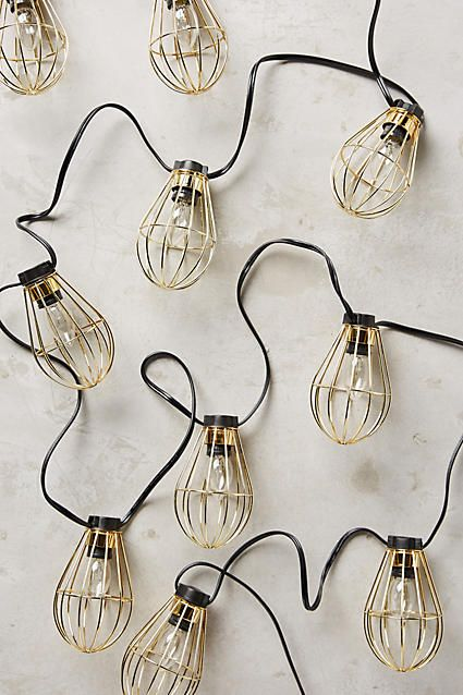 Caged Bulb String Lights - anthropologie.com