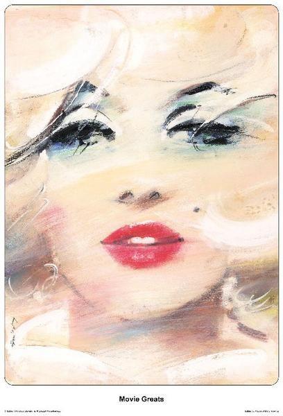 2009 Original Polish poster, Movie Greats, Marilyn Monroe