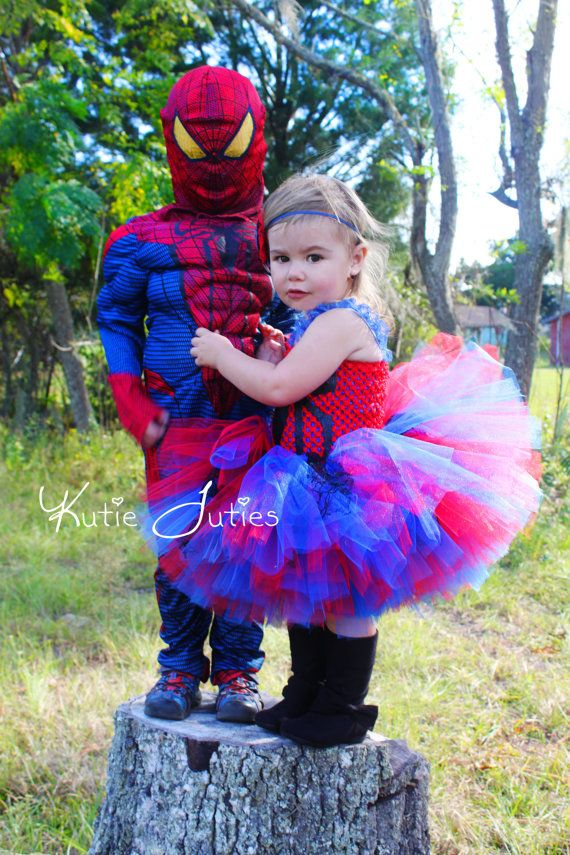 a76b748bcca3d Baby Girl Spiderman Costume & Spider Girl Tutu Dress- Pageant ...