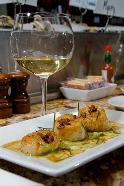 Grilled Sea Scallops with Avocado Puree   AmazingSeafoodRecipes #seafood #recipes #scallops