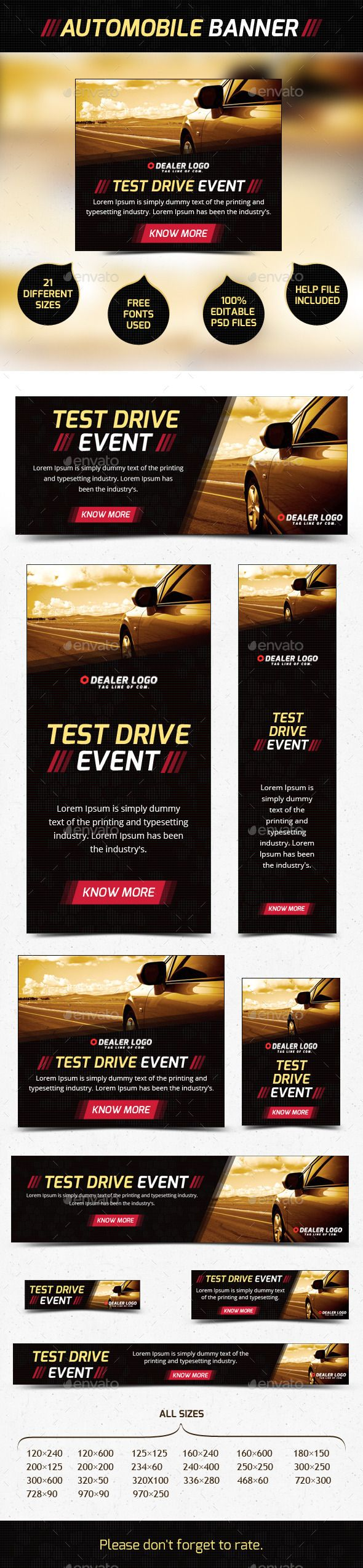 Car Web Banner Ad Template PSD | Buy and Download: http://graphicriver.net/item/car-banner-ad/9109412?WT.ac=category_thumb&WT.z_author=WebIncredible&ref=ksioks