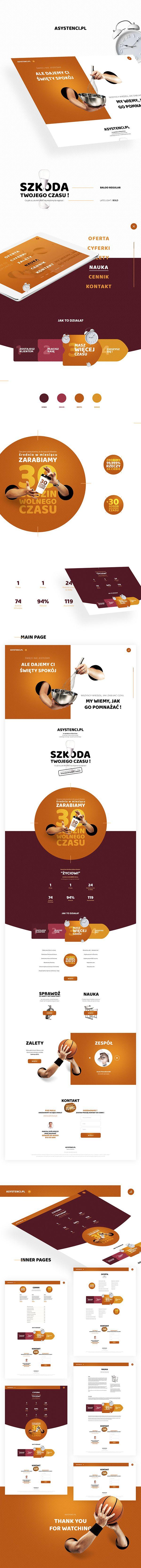 Web design iu inspiration. Website Asystenci. Igor Vensko.